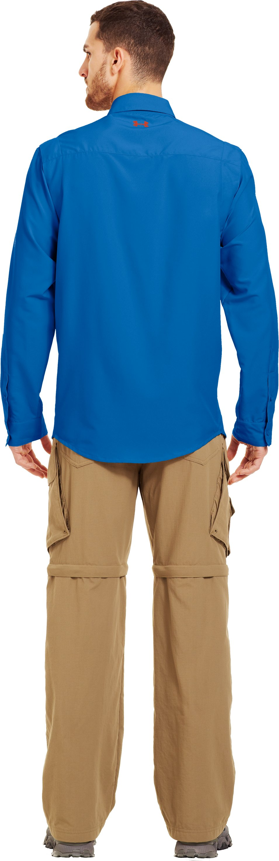 Men's UA Spinner Long Sleeve Shirt, St. Tropez, Back