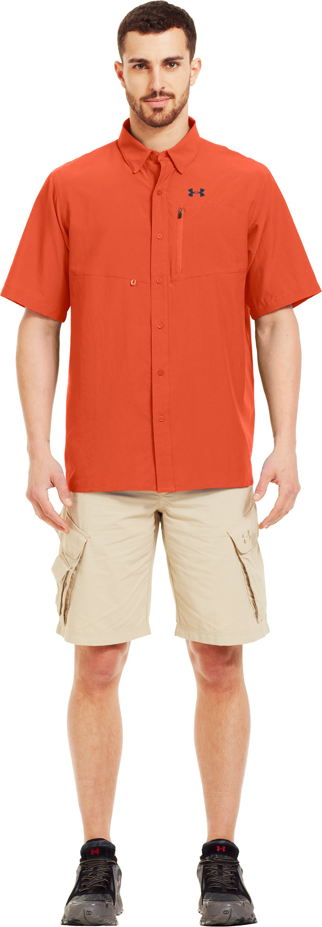 Men's UA Spinner Short Sleeve Shirt, CLOWNFISH