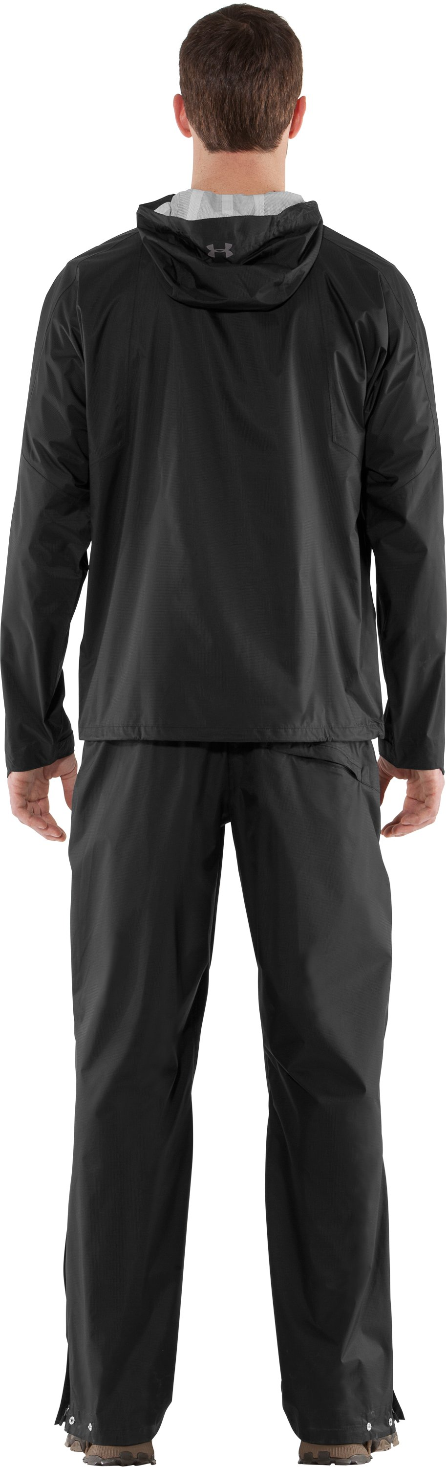 Men's UA StormFront Jacket, Black , Back