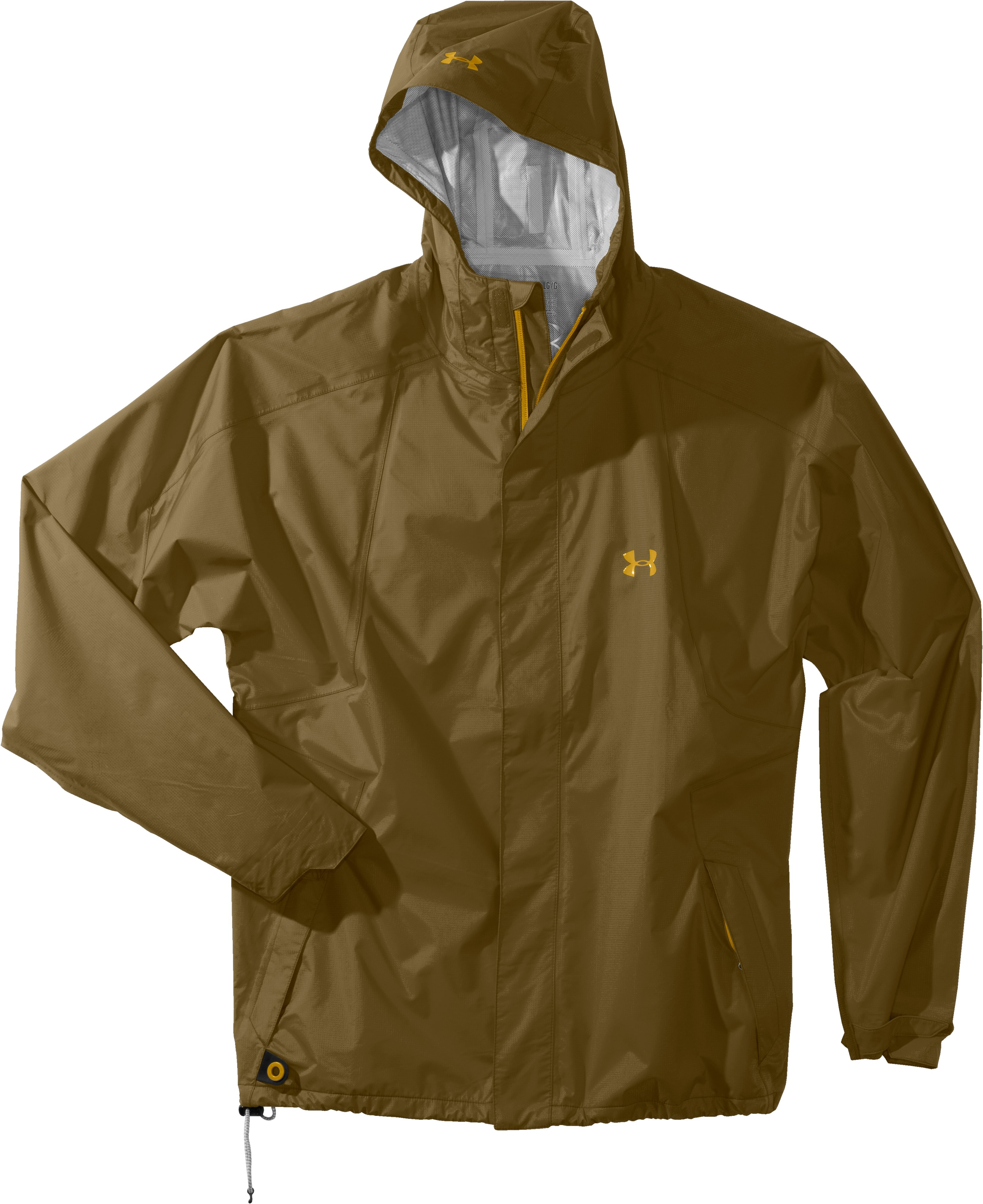 Men's UA StormFront Jacket, Drab, Laydown