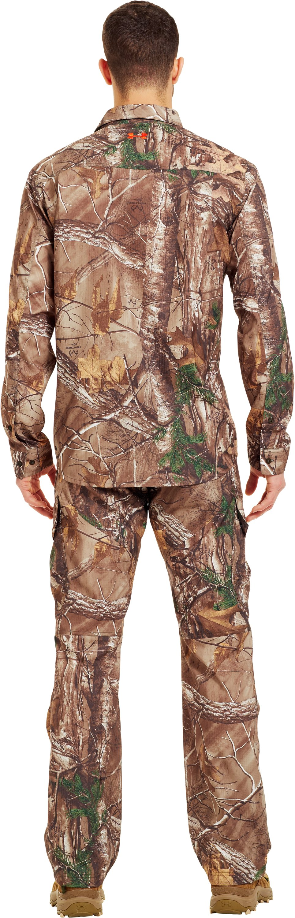 Men's UA Performance Field Shirt, REALTREE AP-XTRA, Back