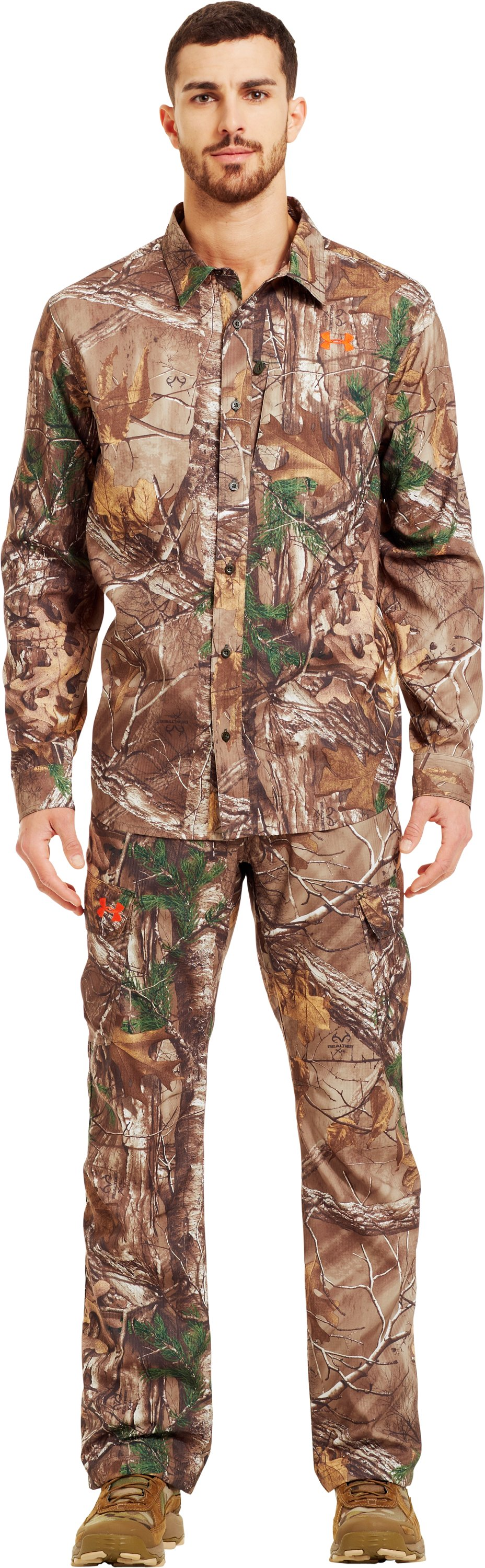 Men's UA Performance Field Shirt, REALTREE AP-XTRA, Front