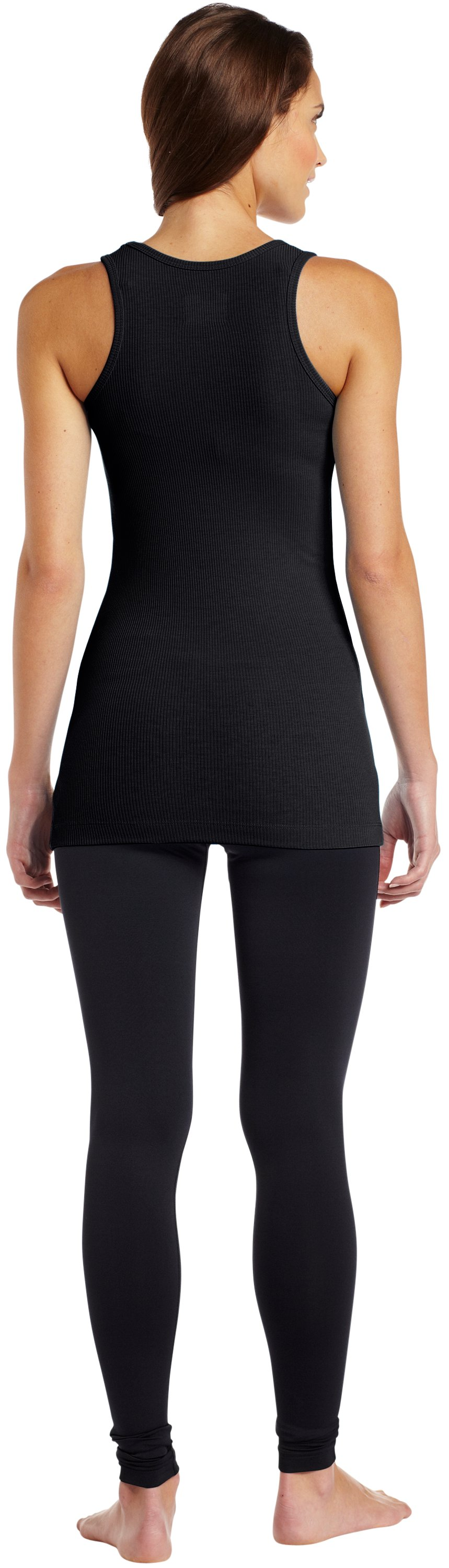 Women's North Star Rib Tank, Black , Back