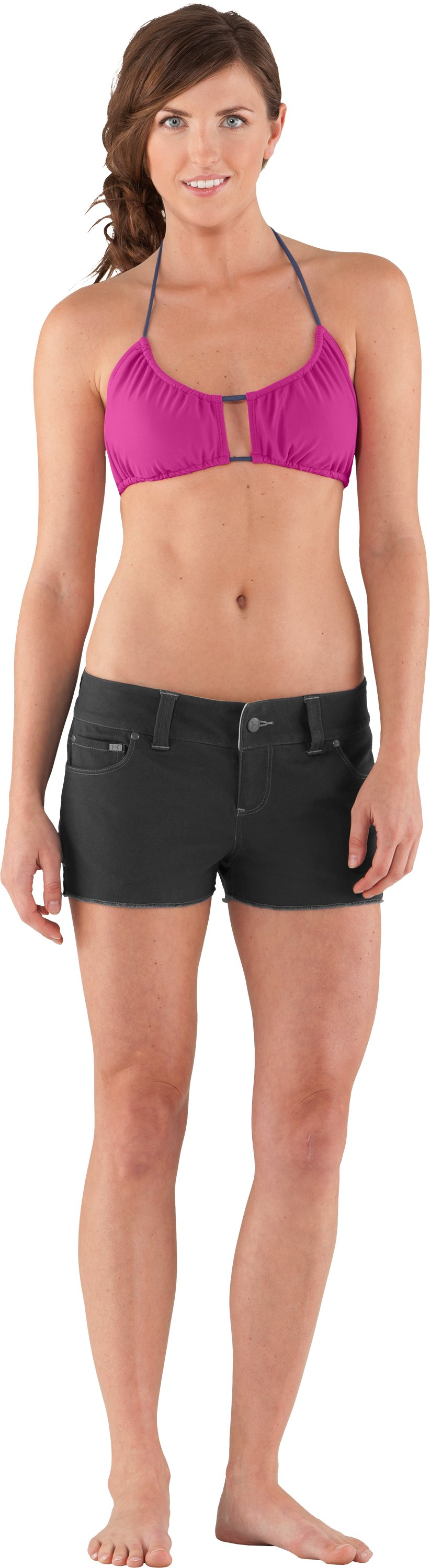 Women's UA Mohawk Shorts, Black , Front