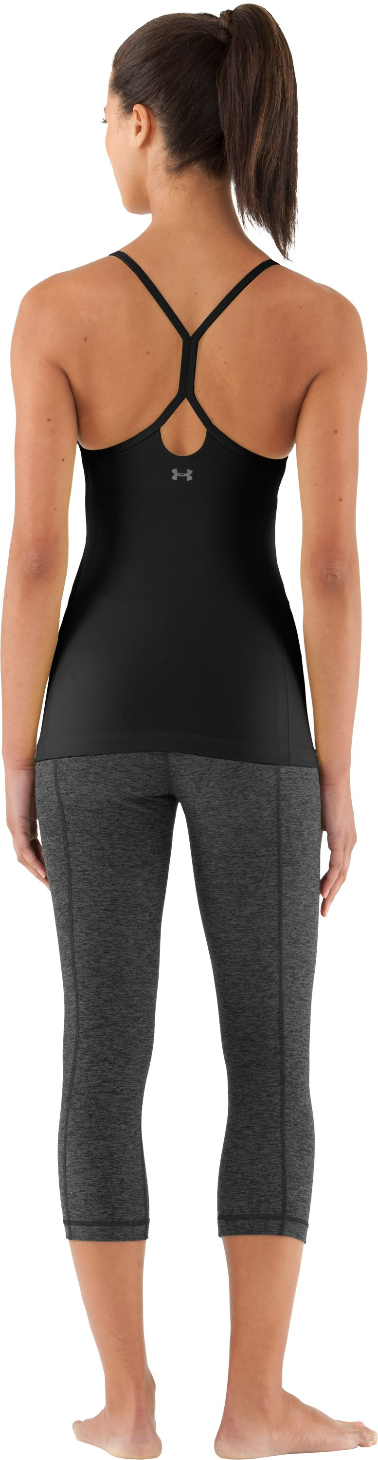 Women's UA Strappylux Tank, Black , Back