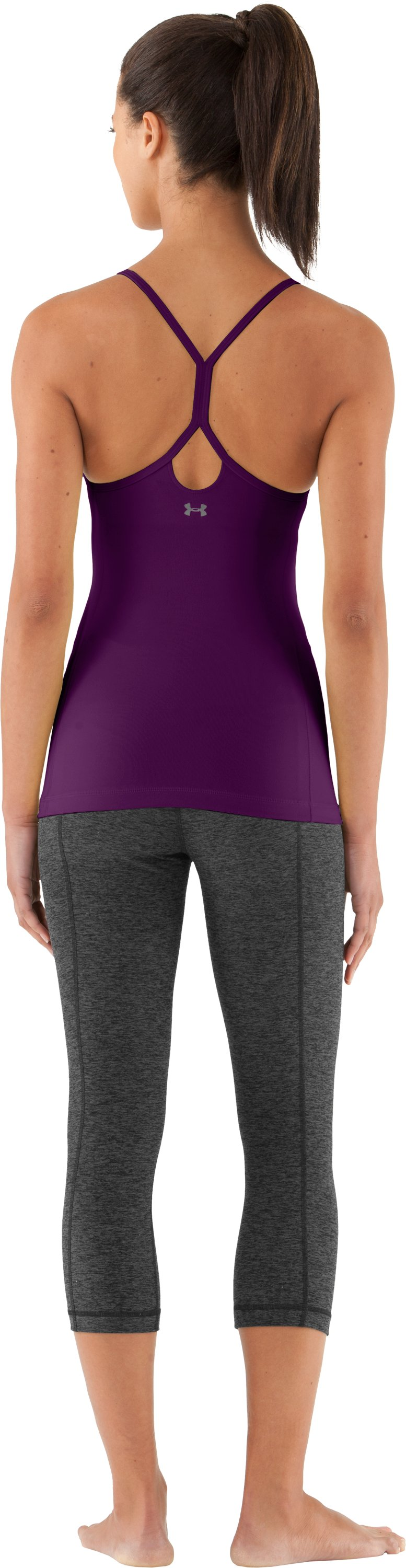 Women's UA Strappylux Tank, Cassis, Back