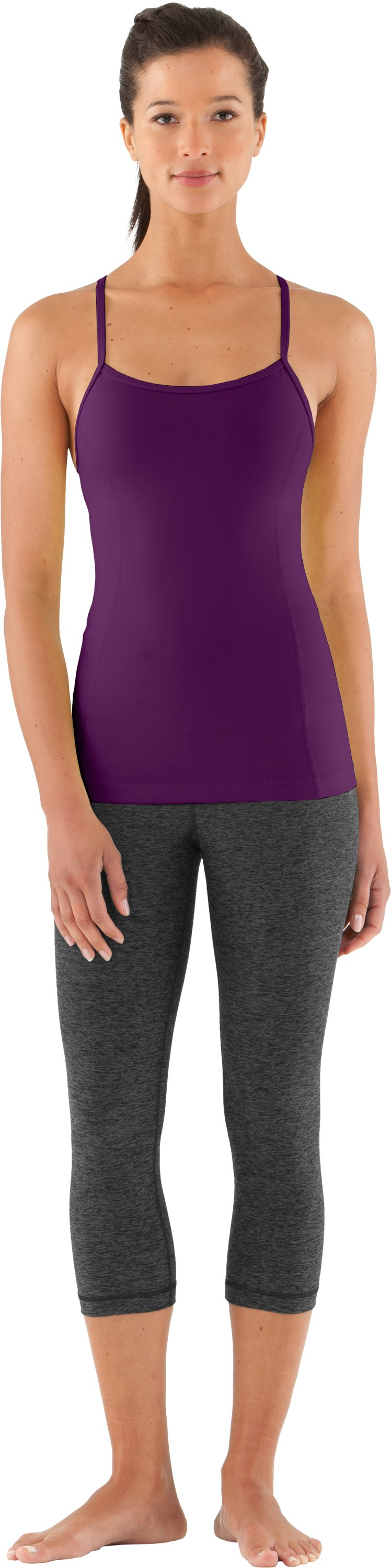 Women's UA Strappylux Tank, Cassis, zoomed image