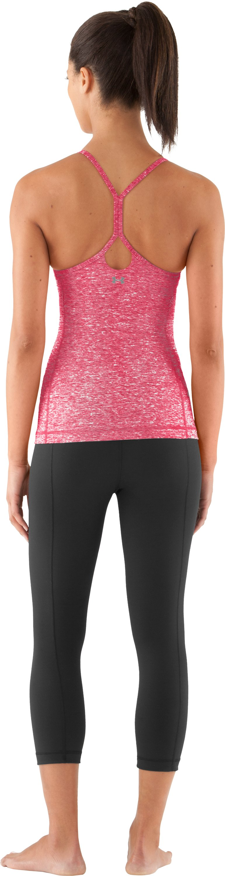 Women's UA Strappylux Tank, Hibiscus, Back