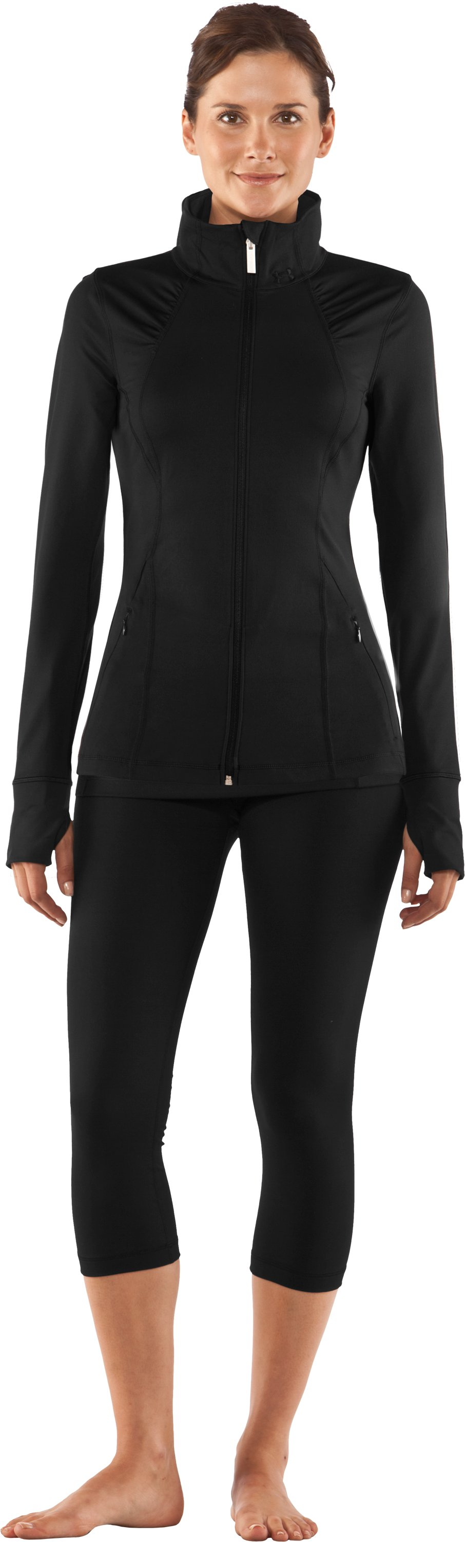 Women's UA StudioLux® Jacket, Black , zoomed image