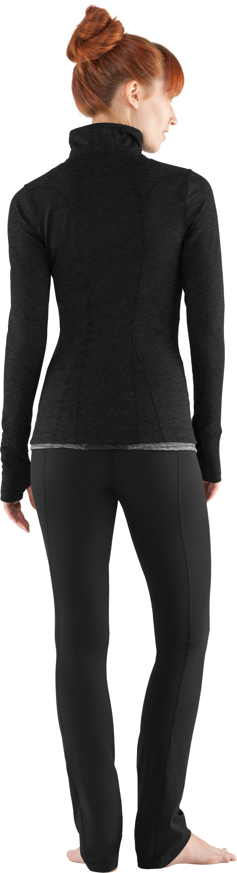 Women's UA StudioLux® Jacket, Asphalt Heather, Back