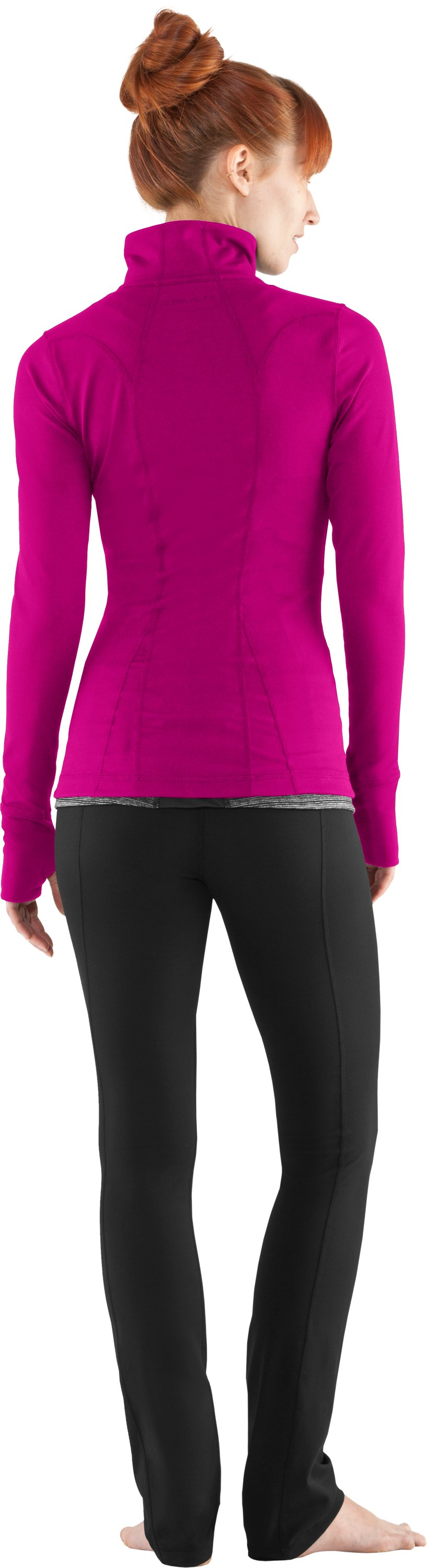 Women's UA StudioLux® Jacket, Tropic Pink, Back