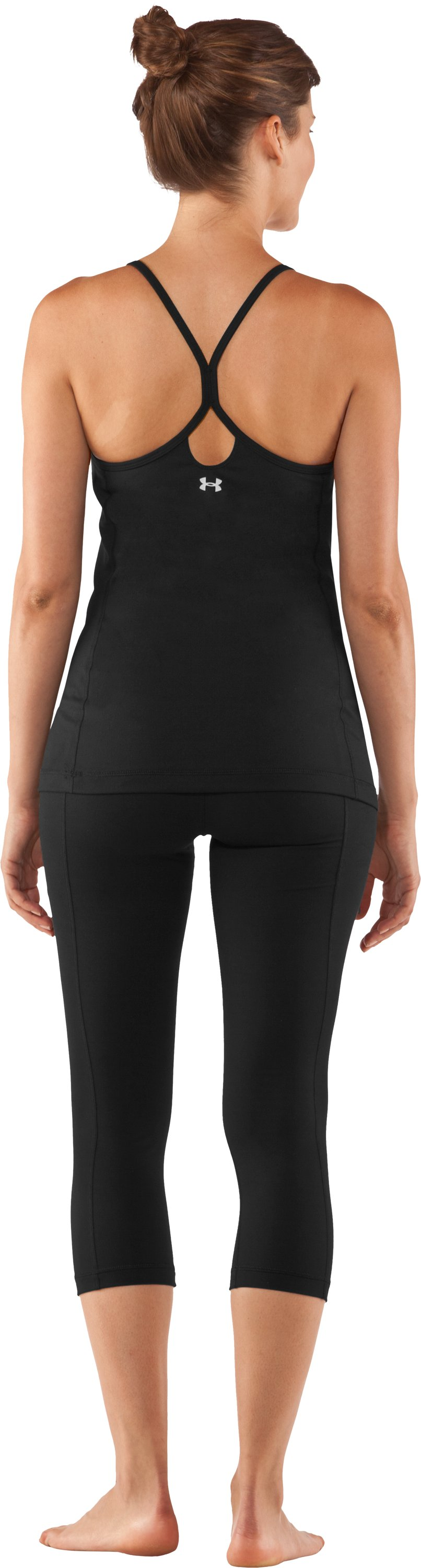 Women's UA StudioLux® Tight Capri, Black , Back