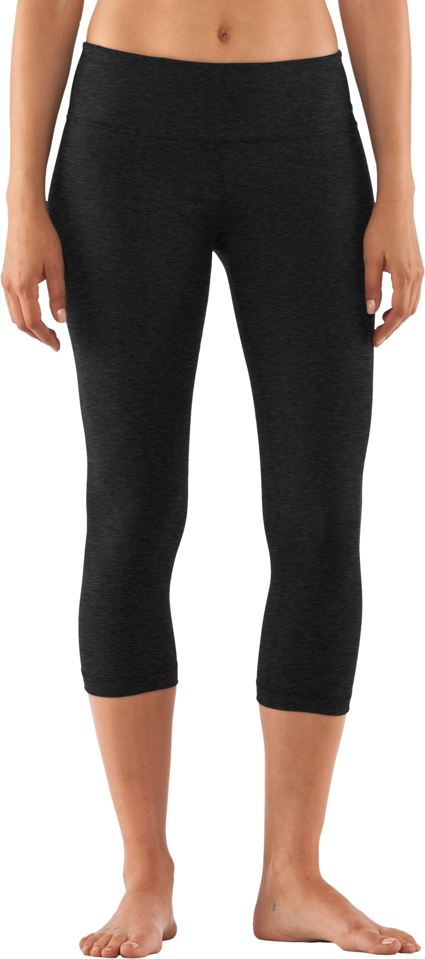 Women's UA StudioLux® Tight Capri, Asphalt Heather, zoomed image