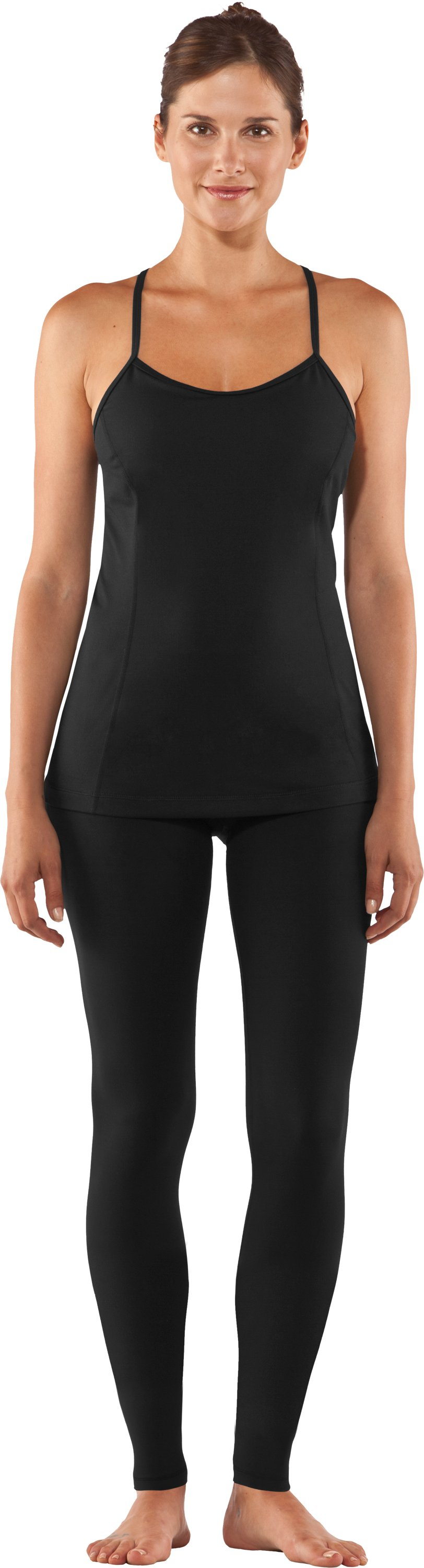 Women's UA StudioLux® Leggings, Black , Front