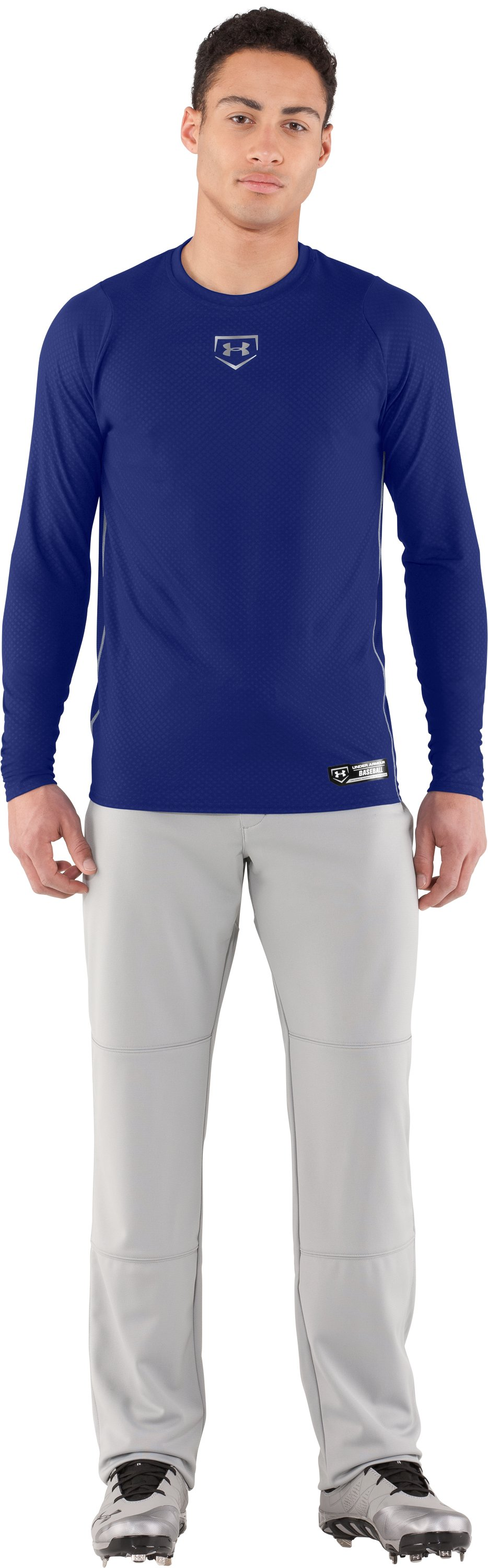 Men's UA Diamond Armour™ Baseball Long Sleeve Baselayer, Royal, Front