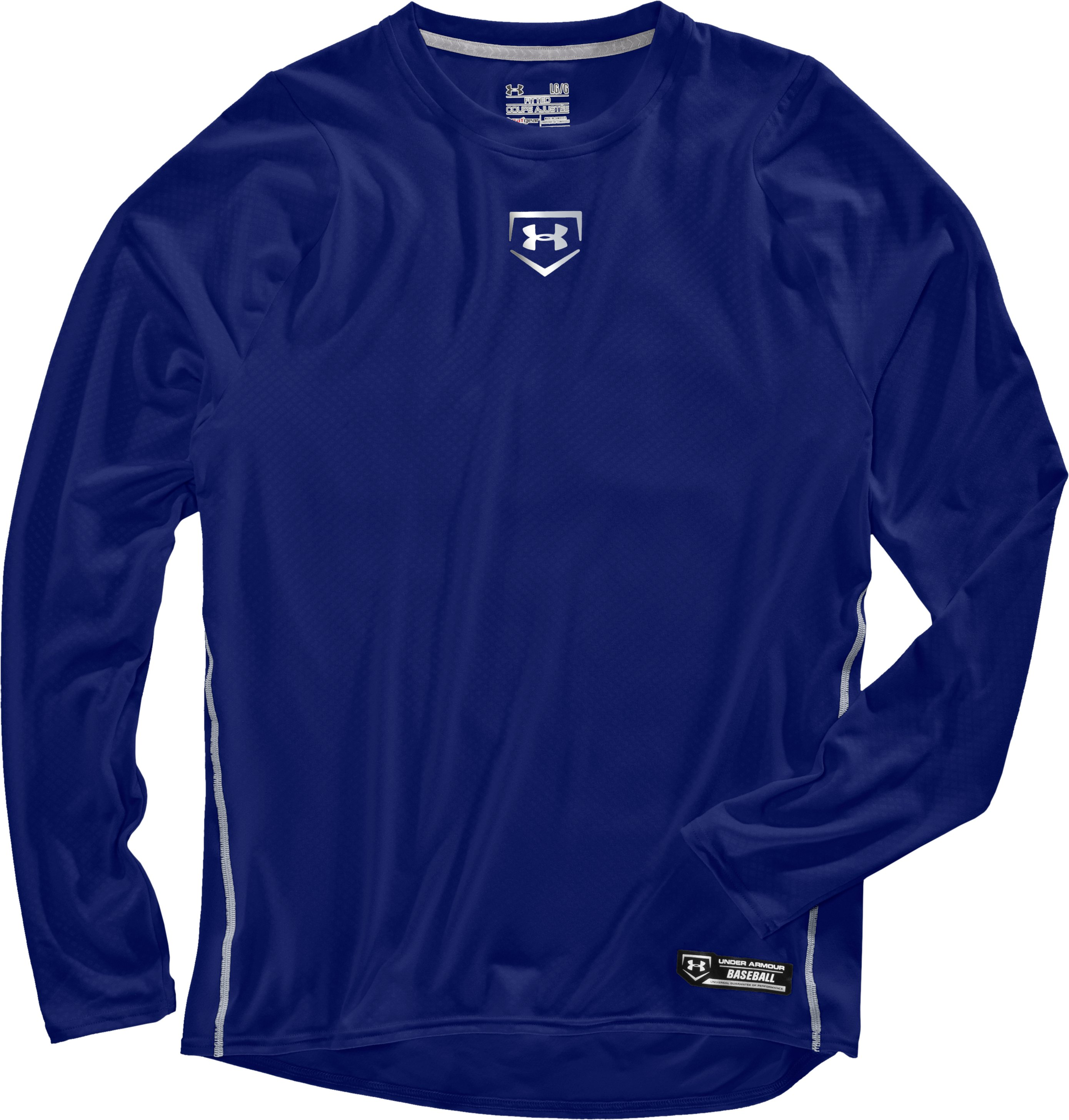 Men's UA Diamond Armour™ Baseball Long Sleeve Baselayer, Royal, Laydown
