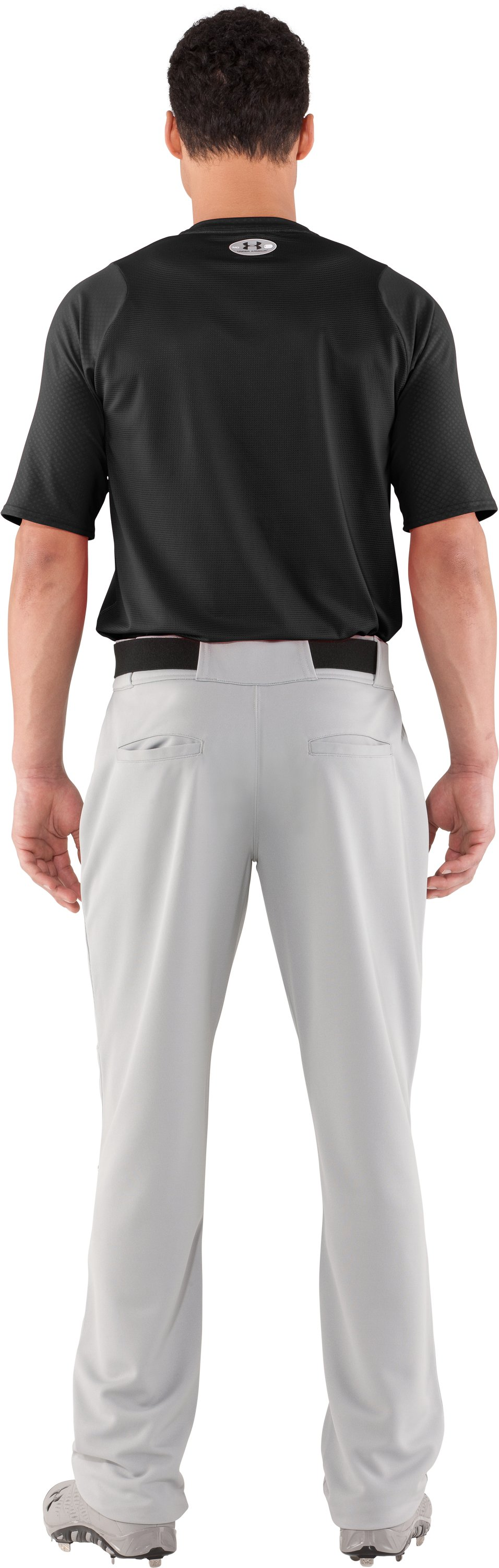 Men's UA Diamond Armour™ Baseball Short Sleeve Baselayer, Black , Back
