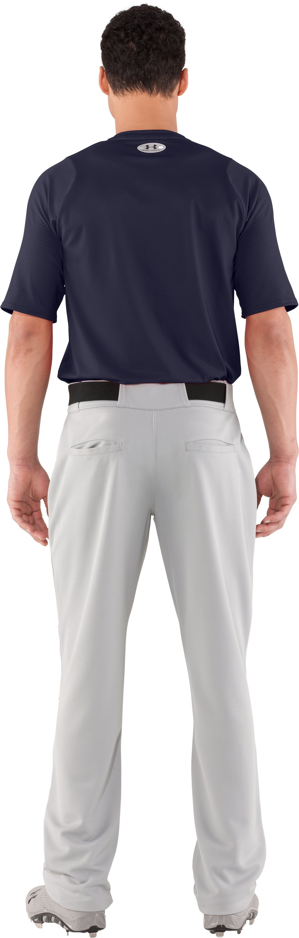 Men's UA Diamond Armour™ Baseball Short Sleeve Baselayer, Midnight Navy, Back