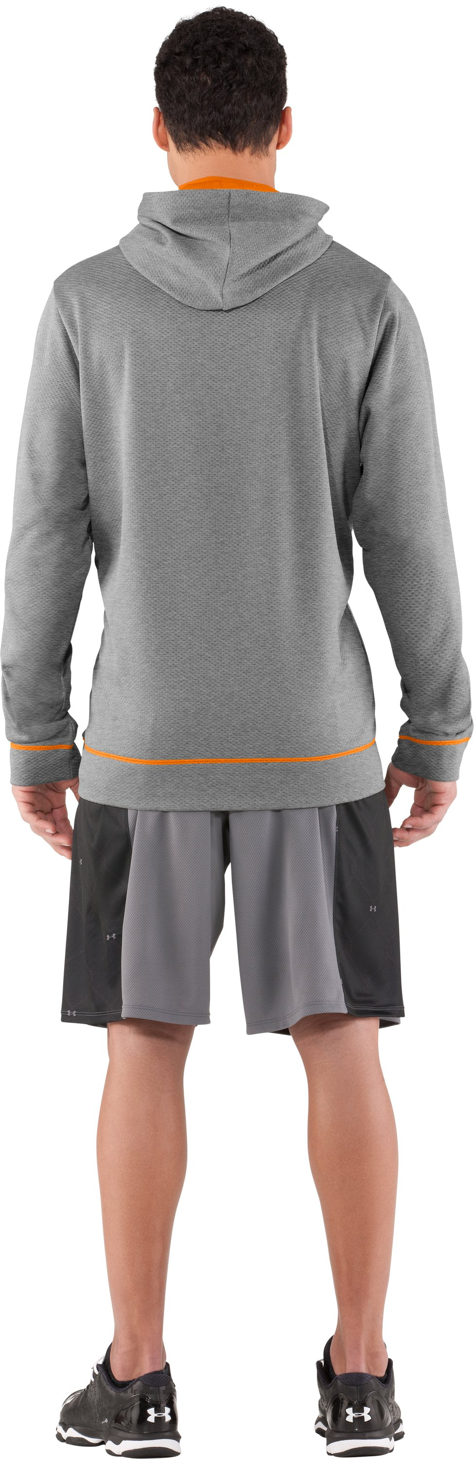 Men's UA CTG Chain Link Hoodie, True Gray Heather, Back