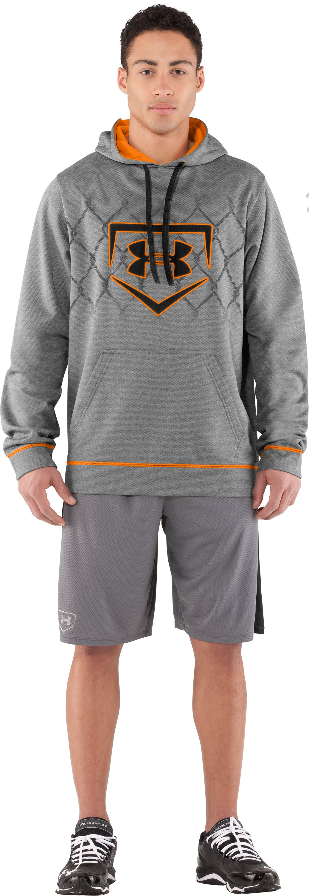 Men's UA CTG Chain Link Hoodie, True Gray Heather, Front