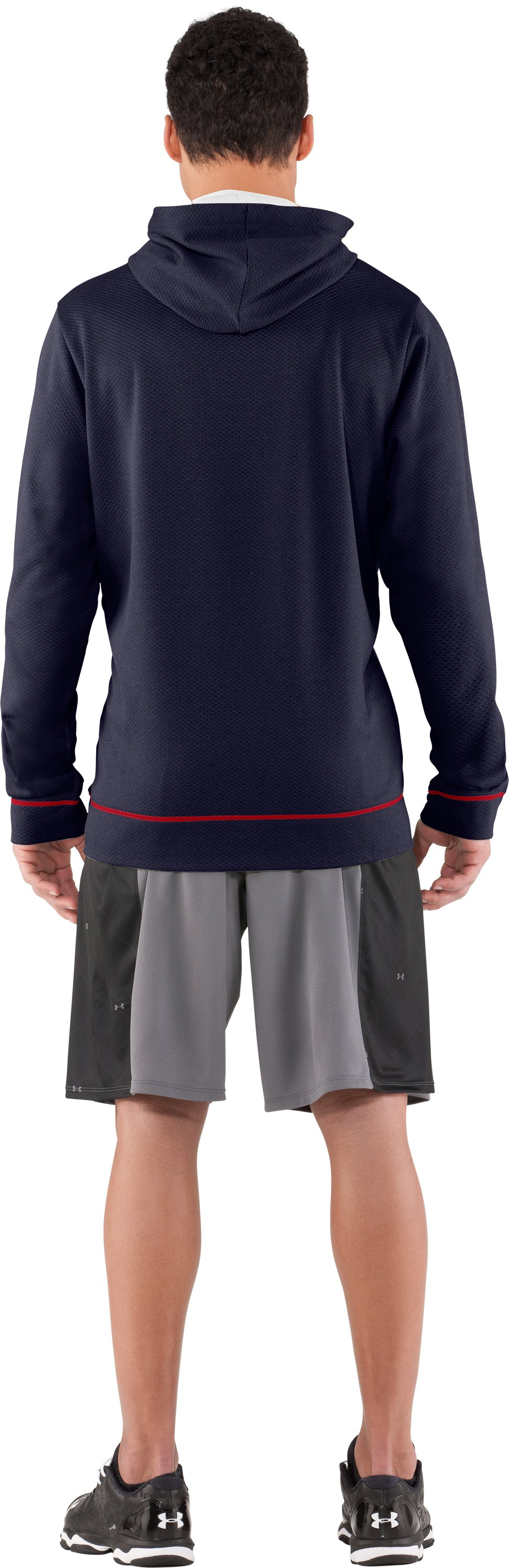 Men's UA CTG Chain Link Hoodie, Midnight Navy, Back
