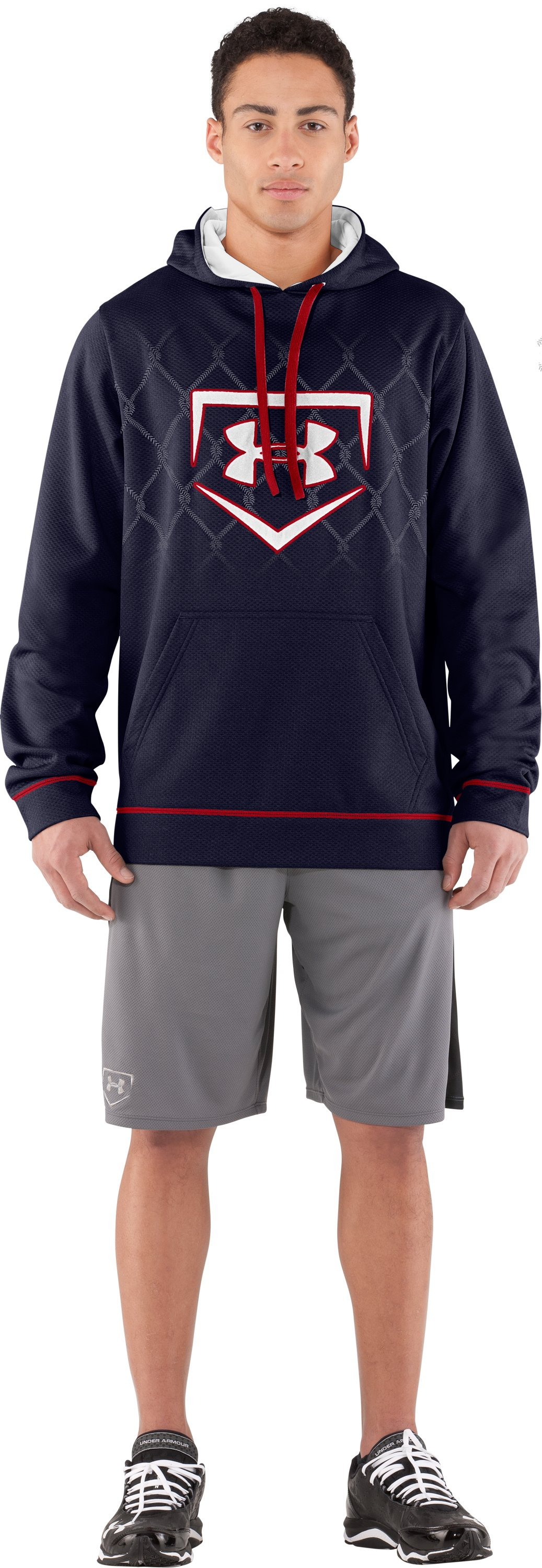 Men's UA CTG Chain Link Hoodie, Midnight Navy, Front