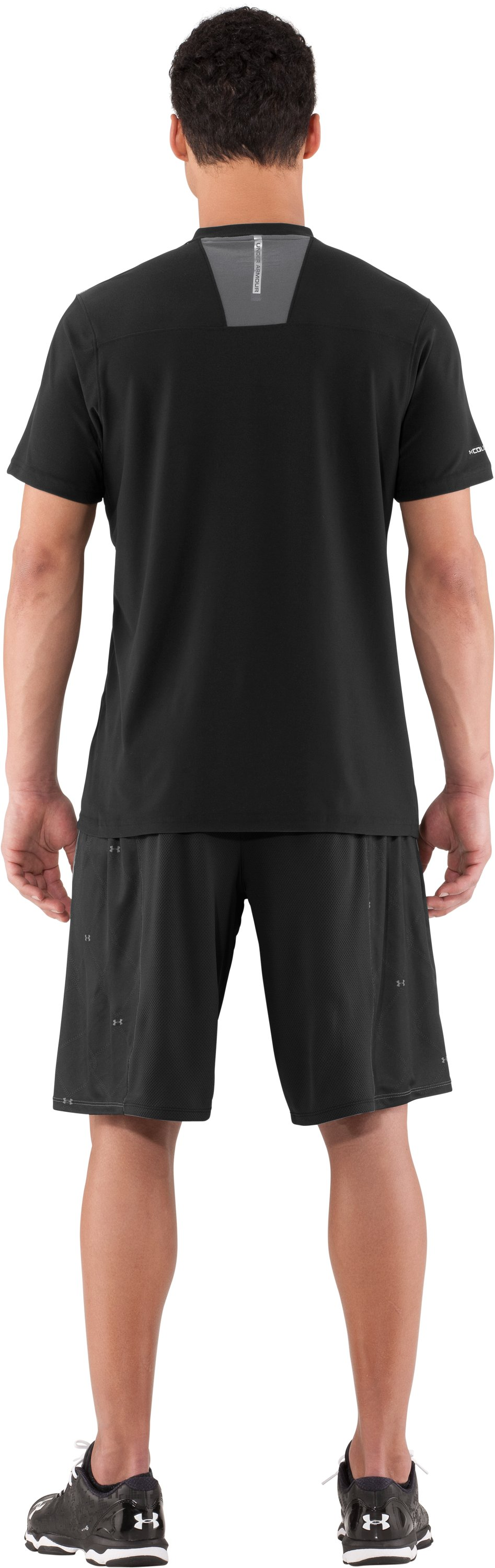Men's coldblack® CTG Short Sleeve, Black , Back