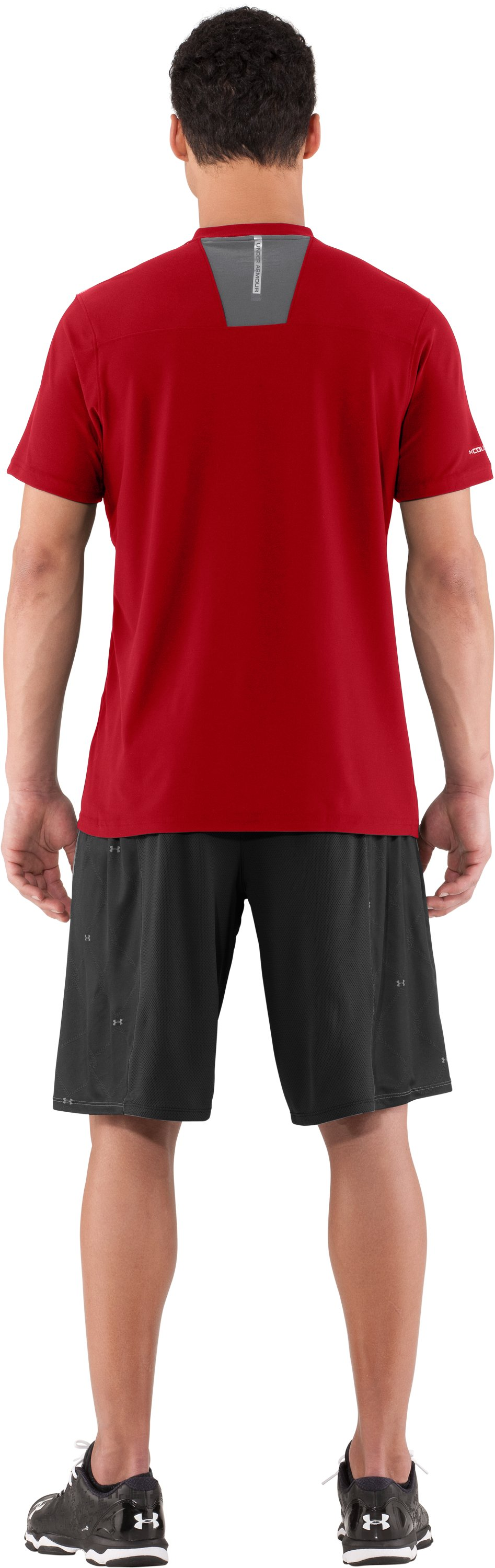 Men's coldblack® CTG Short Sleeve, Red, Back