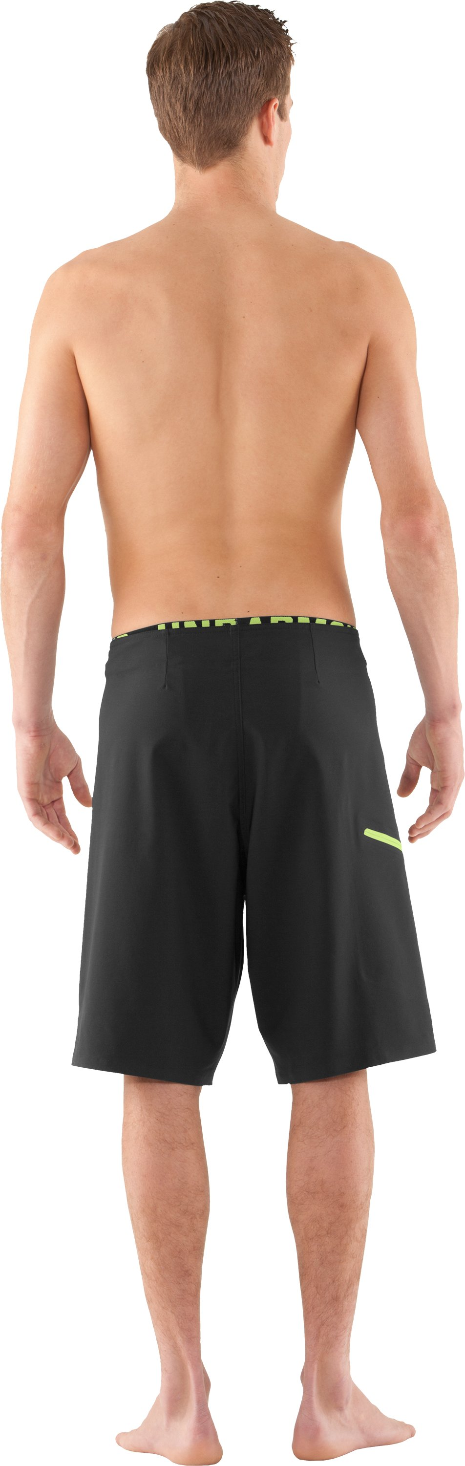 Men's UA Grovepoint Board Shorts, Black , Back