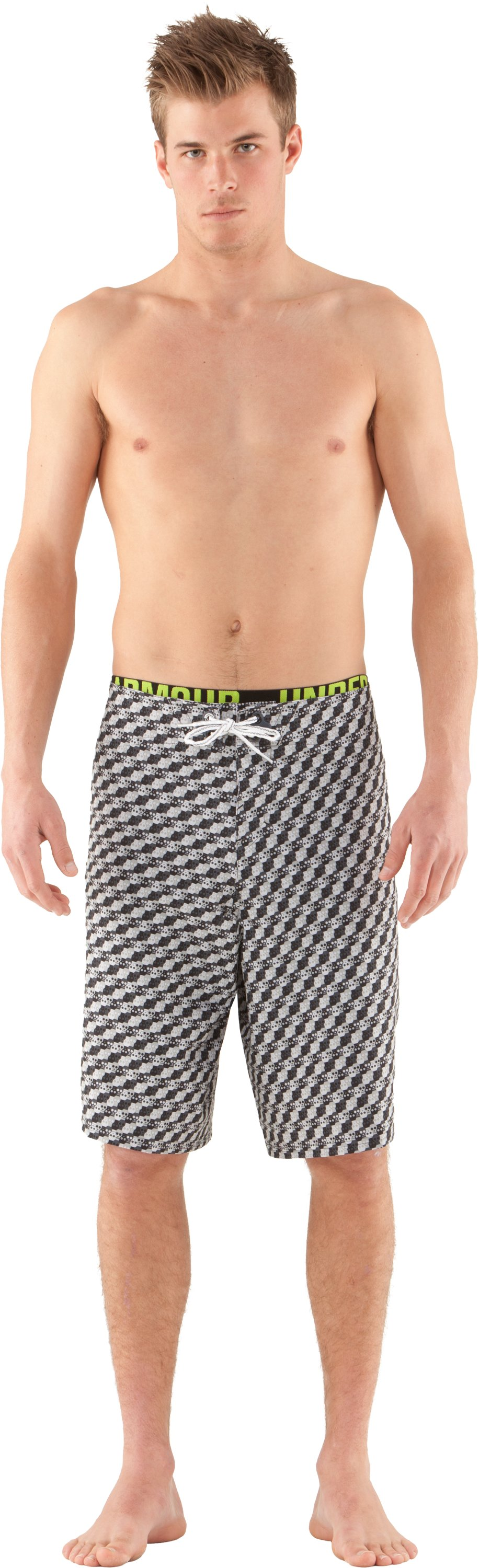 Men's UA Psysquatch Board Shorts, Aluminum, Front