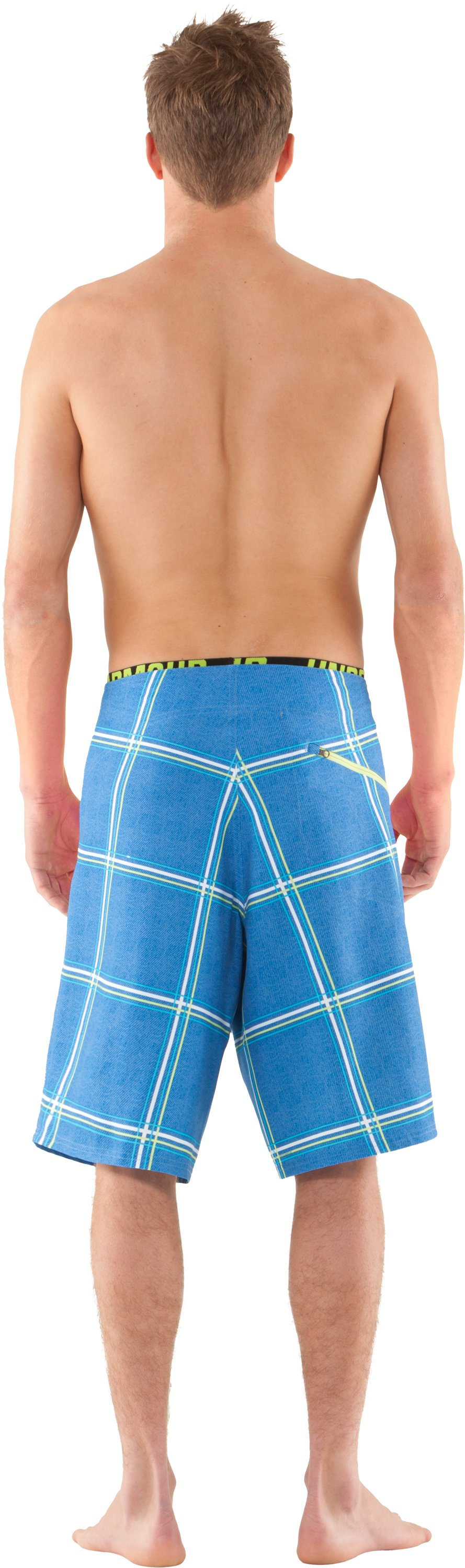 Men's UA Psysquatch Board Shorts, St. Tropez, Back