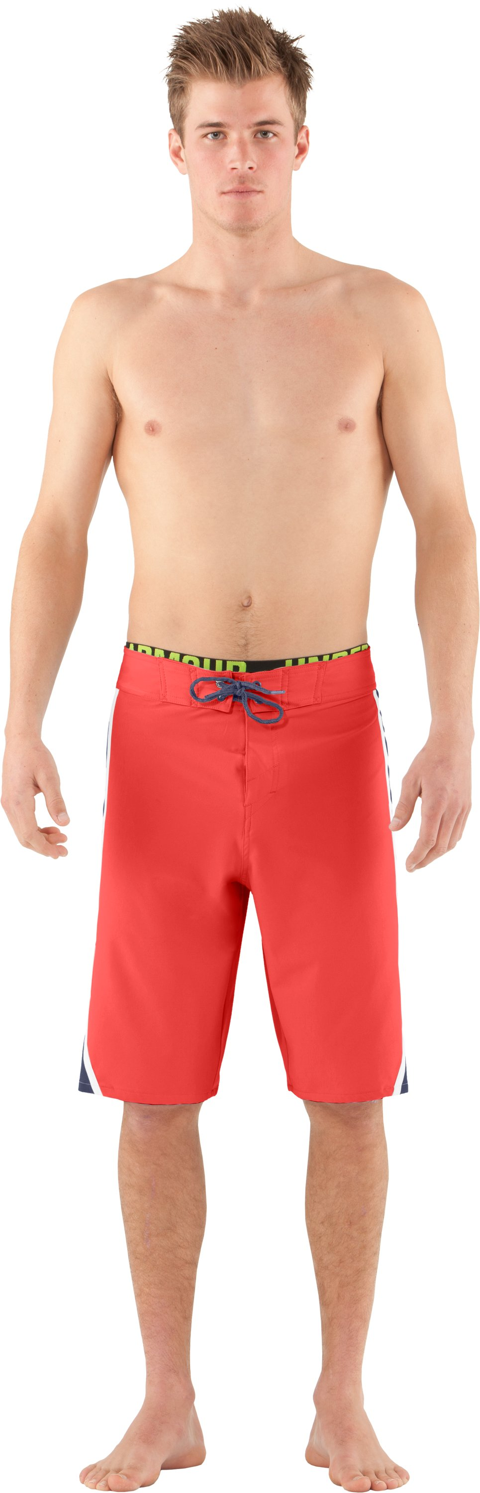 Men's UA Munnaruck Board Shorts, Fire, Front