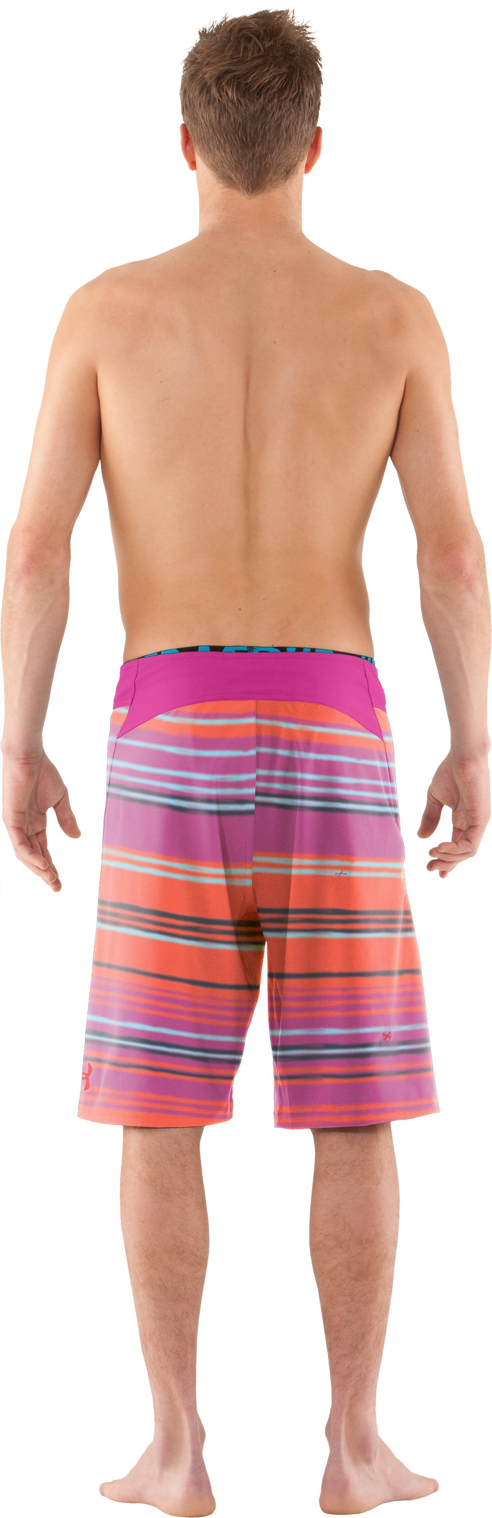Men's UA Courier Board Shorts, STREAM, Back