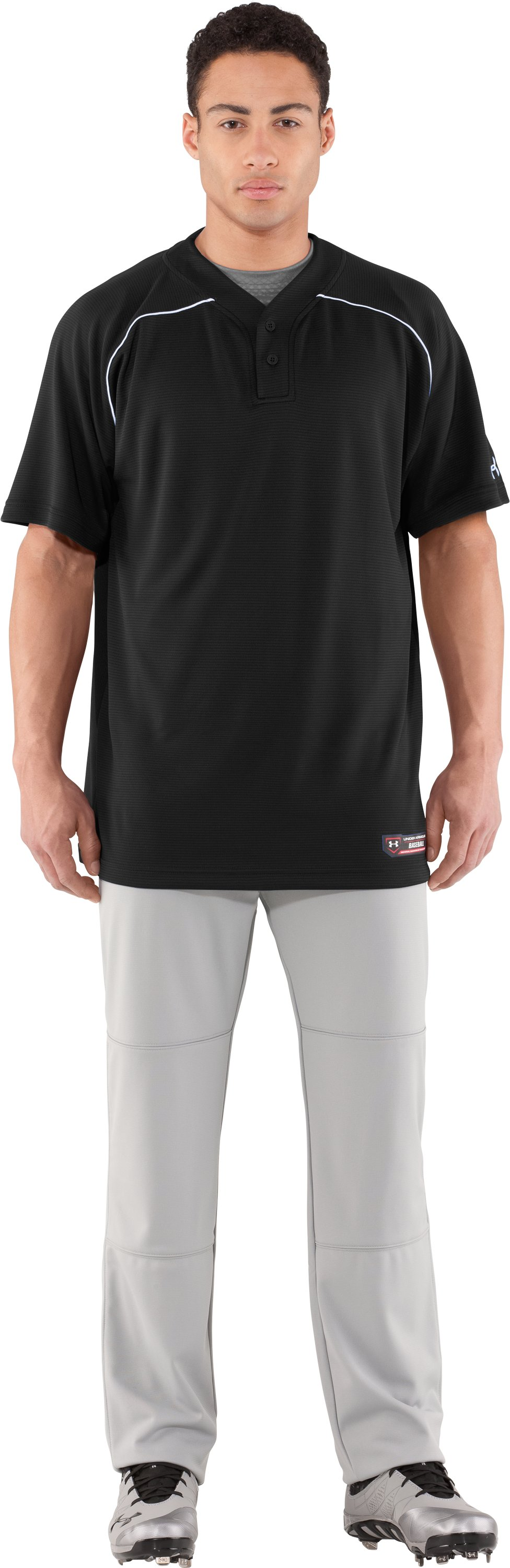 Men's UA Landsdown II Baseball Jersey, Black , undefined