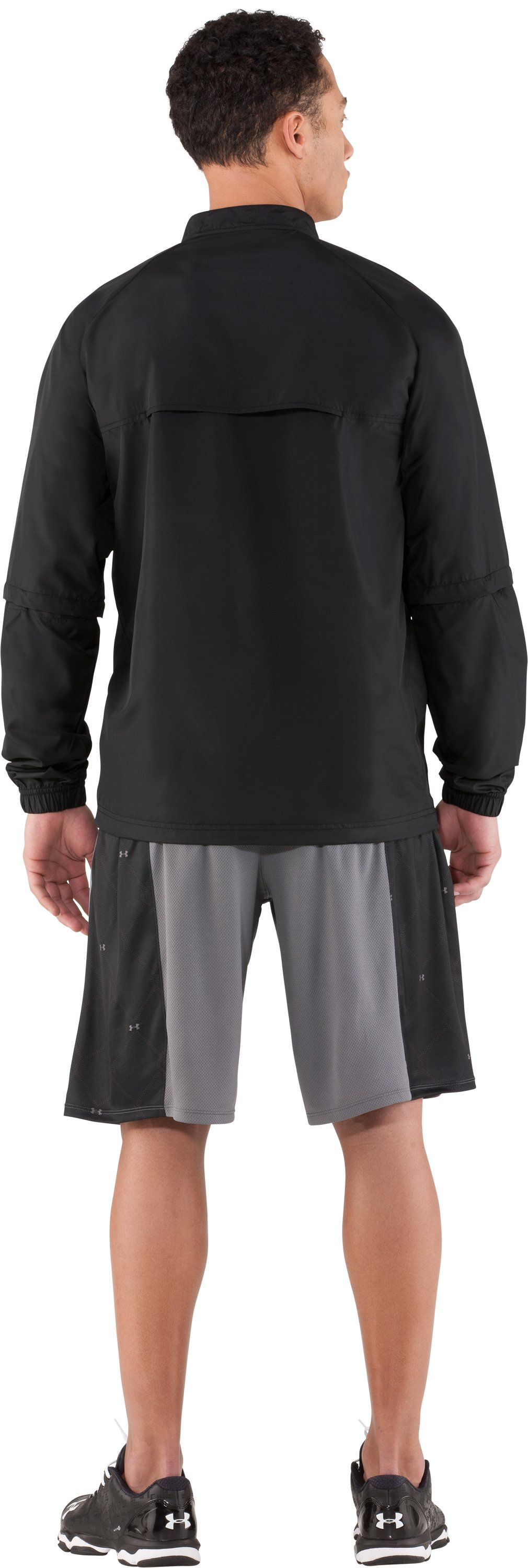 Men's UA Convertible CTG Jacket, Black , Back