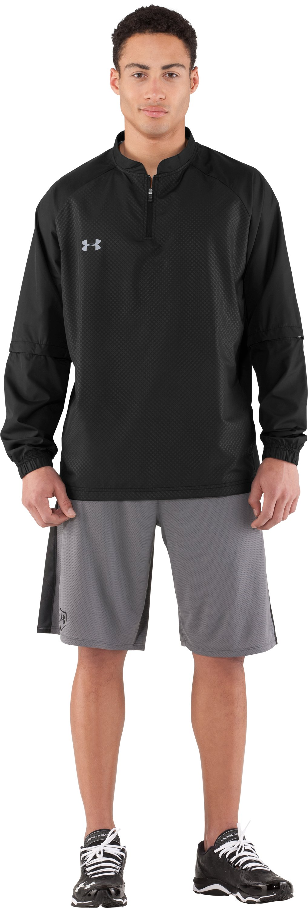 Men's UA Convertible CTG Jacket, Black , Front