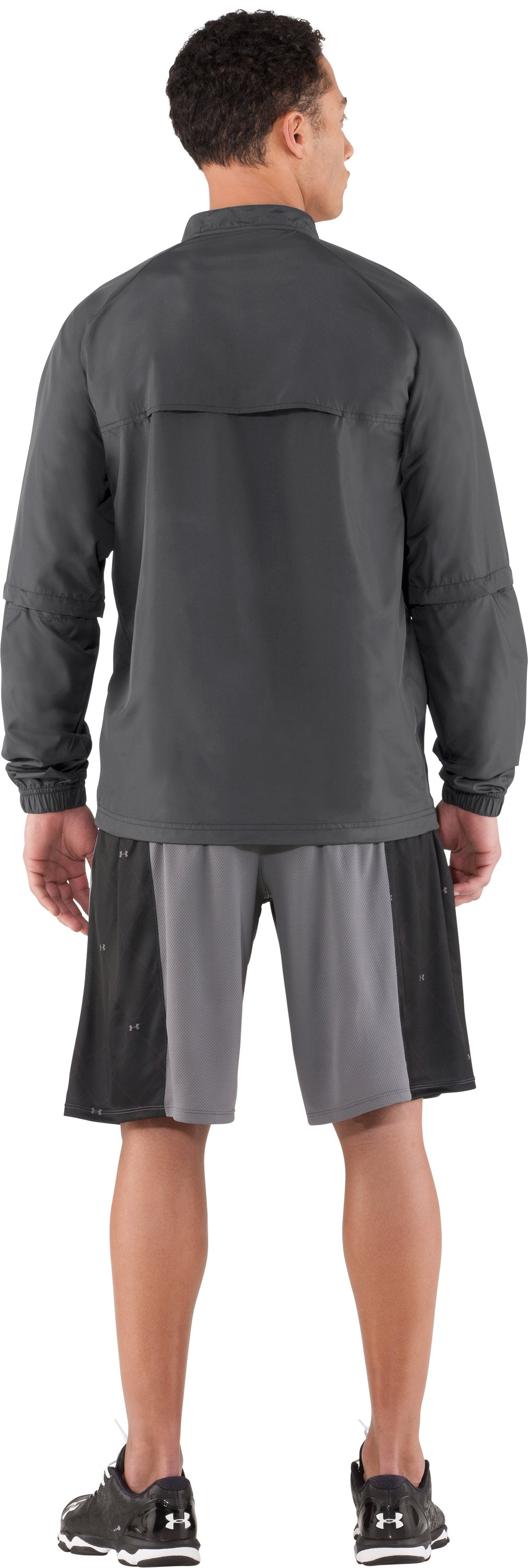 Men's UA Convertible CTG Jacket, Graphite, Back