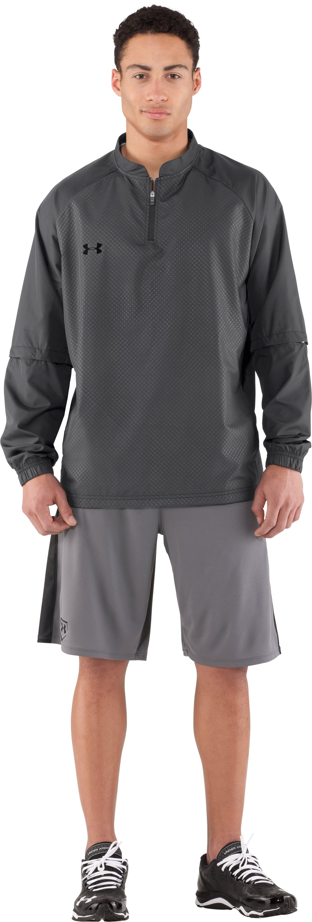 Men's UA Convertible CTG Jacket, Graphite, Front