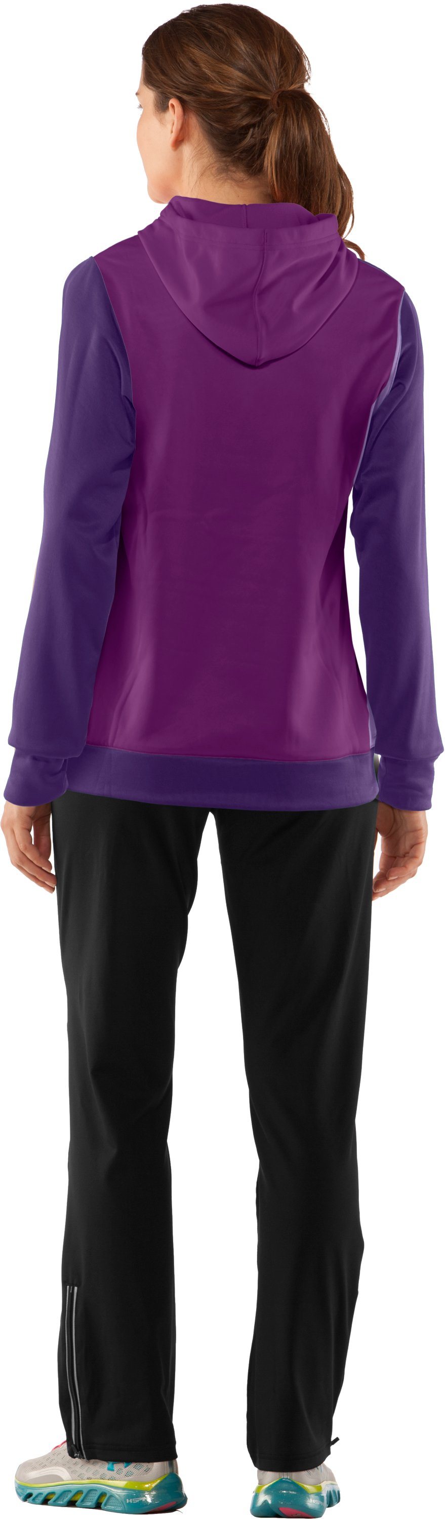 Women's Armour® Fleece Divide Hoodie, Zone, Back