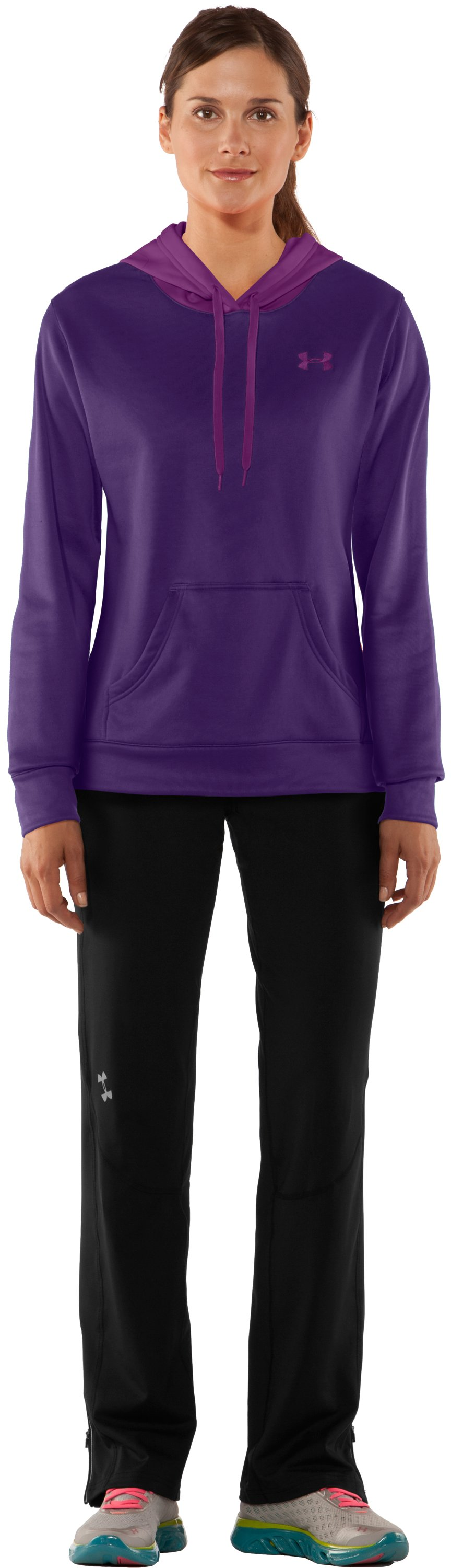Women's Armour® Fleece Divide Hoodie, Zone, Front