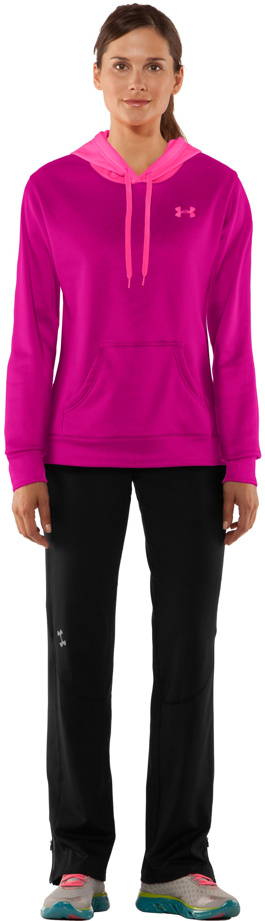 Women's Armour® Fleece Divide Hoodie, Tropic Pink, zoomed image