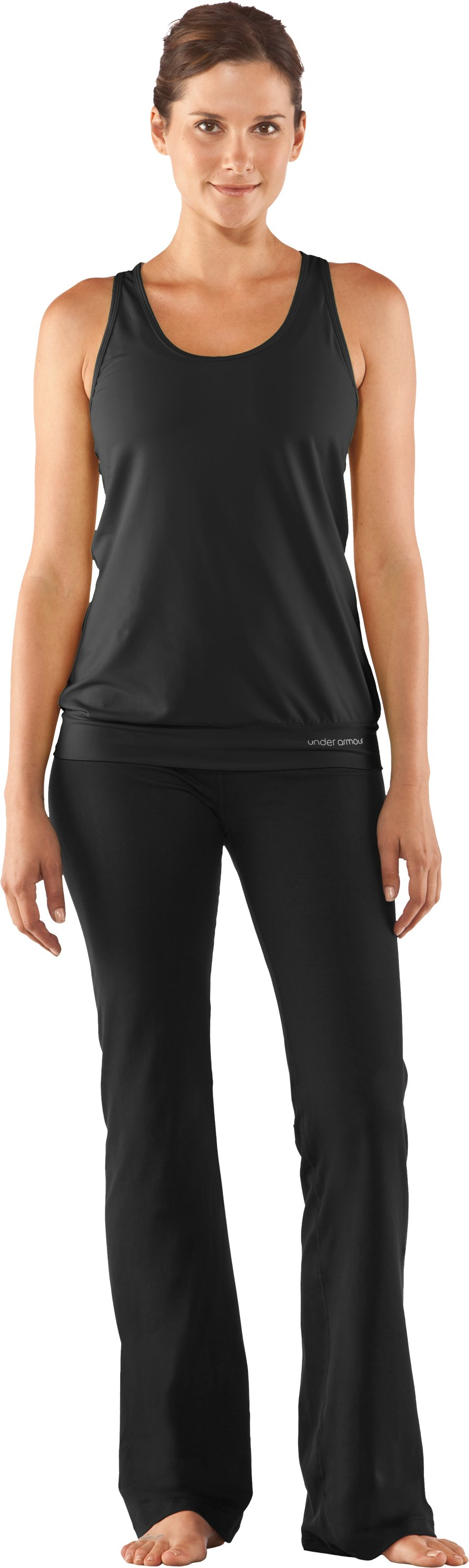 Women's UA Perfect Shape Pant, Black , Front
