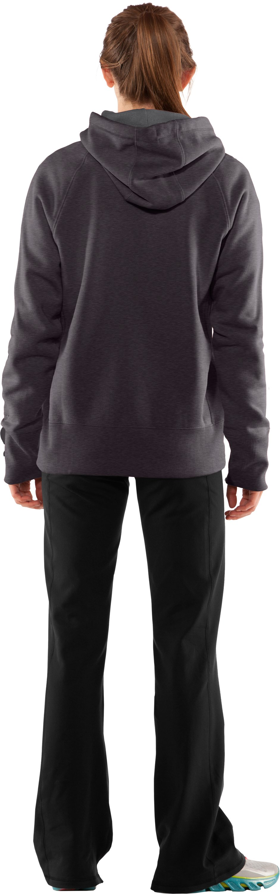 Women's Charged Cotton® Storm Hoodie, Carbon Heather, Back