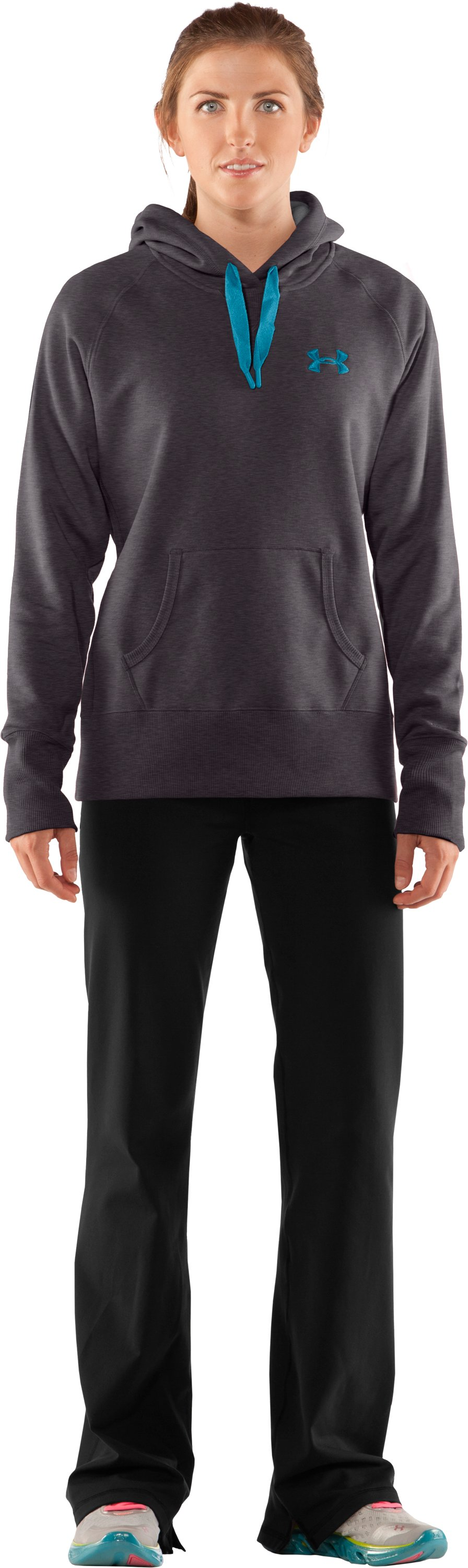 Women's Charged Cotton® Storm Hoodie, Carbon Heather, Front
