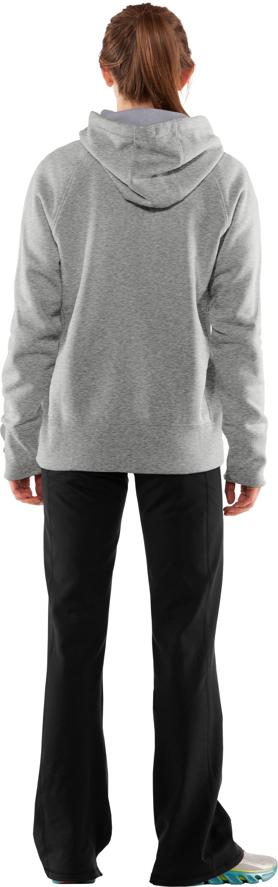 Women's Charged Cotton® Storm Hoodie, Silver Heather, Back