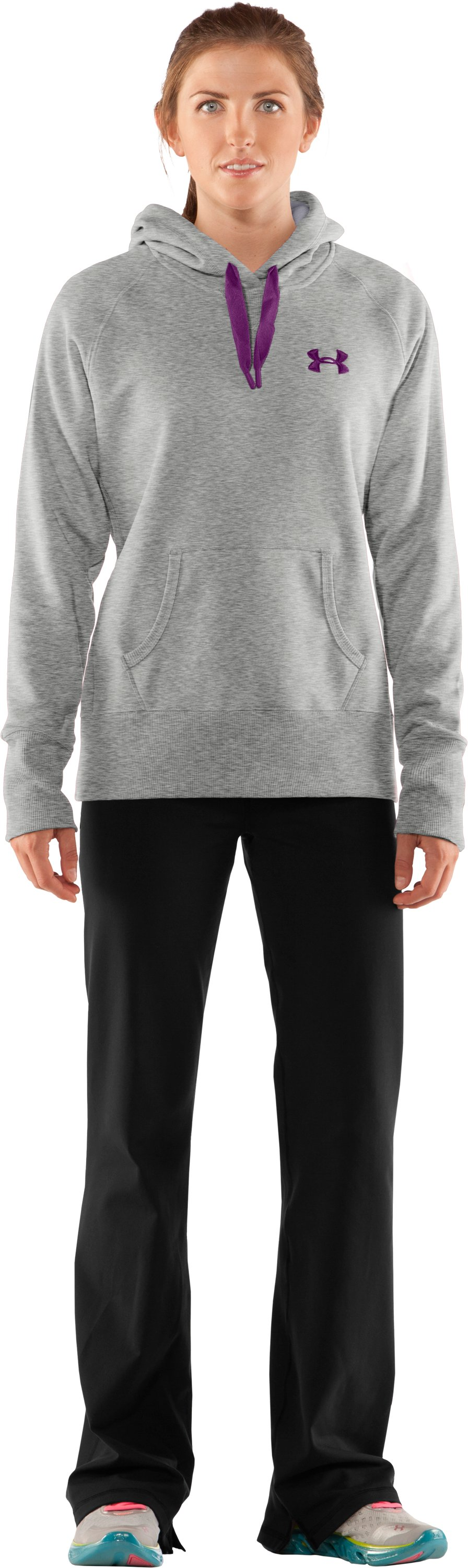 Women's Charged Cotton® Storm Hoodie, Silver Heather, Front