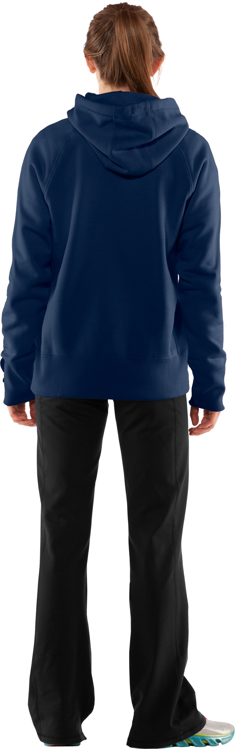 Women's Charged Cotton® Storm Hoodie, Academy, Back