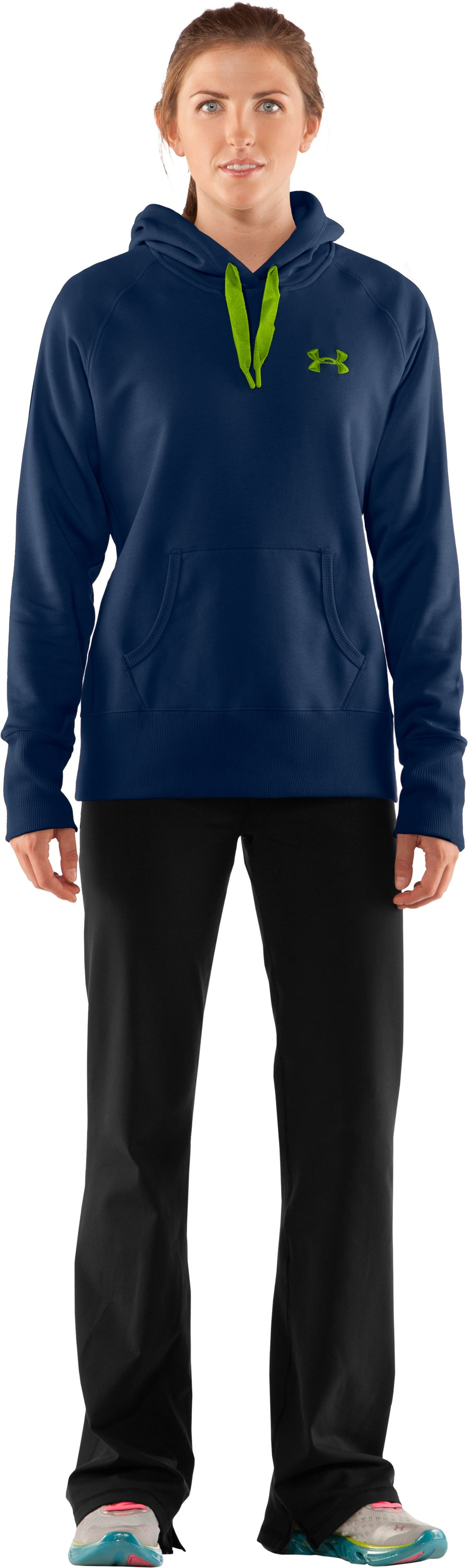 Women's Charged Cotton® Storm Hoodie, Academy, Front
