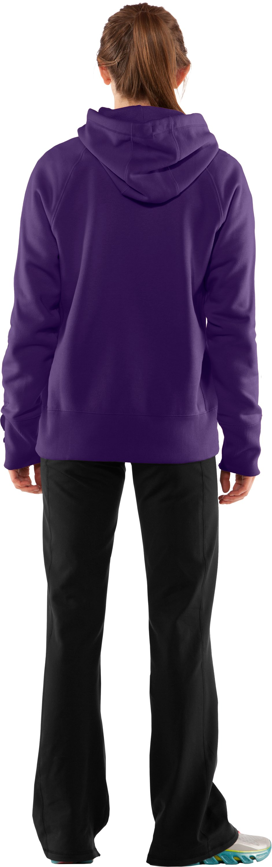 Women's Charged Cotton® Storm Hoodie, Zone, Back
