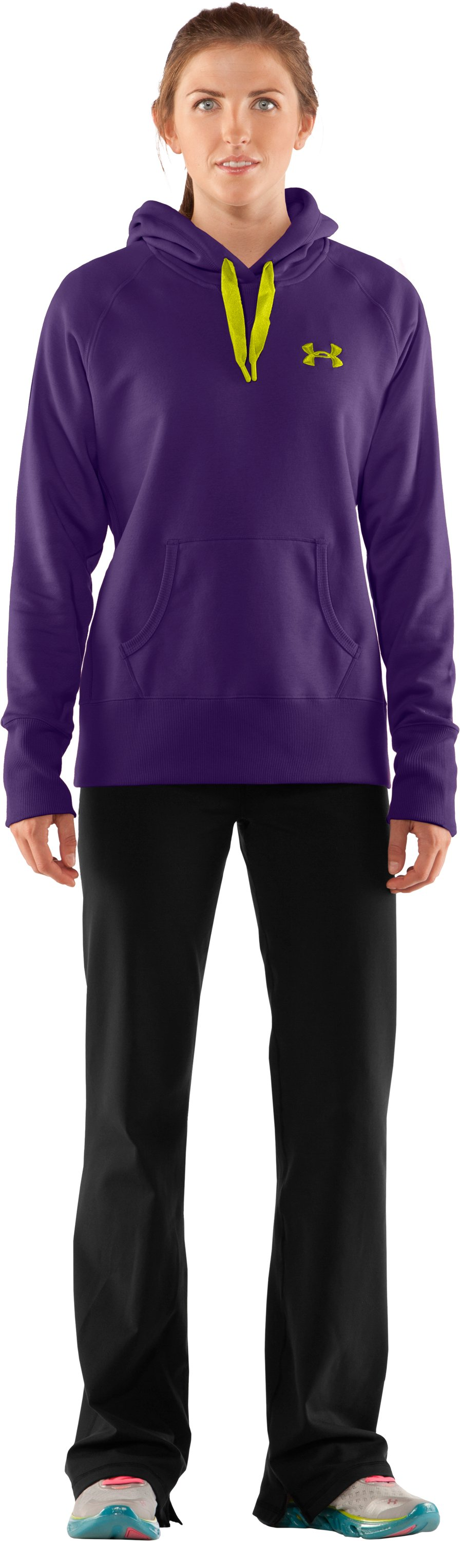 Women's Charged Cotton® Storm Hoodie, Zone, Front